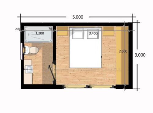 Mobilhome de madera 5x3 3