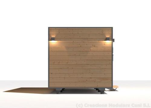 Mobilhome de madera 6x3 5