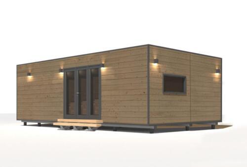modulo prefabricado madera 2 habitaciones