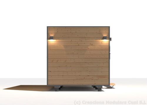 Mobilhome de madera 7x3 5