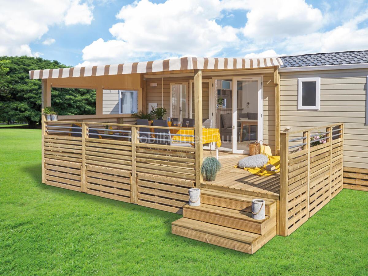 Terrasse-bois-Clairval-couverte-residentielle-profondeur-3m60-vue-exterieure-ouverte